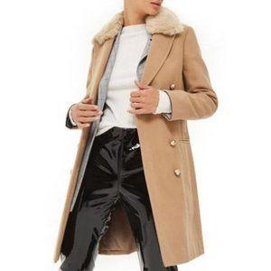 Nina Faux Fur Pea Coat